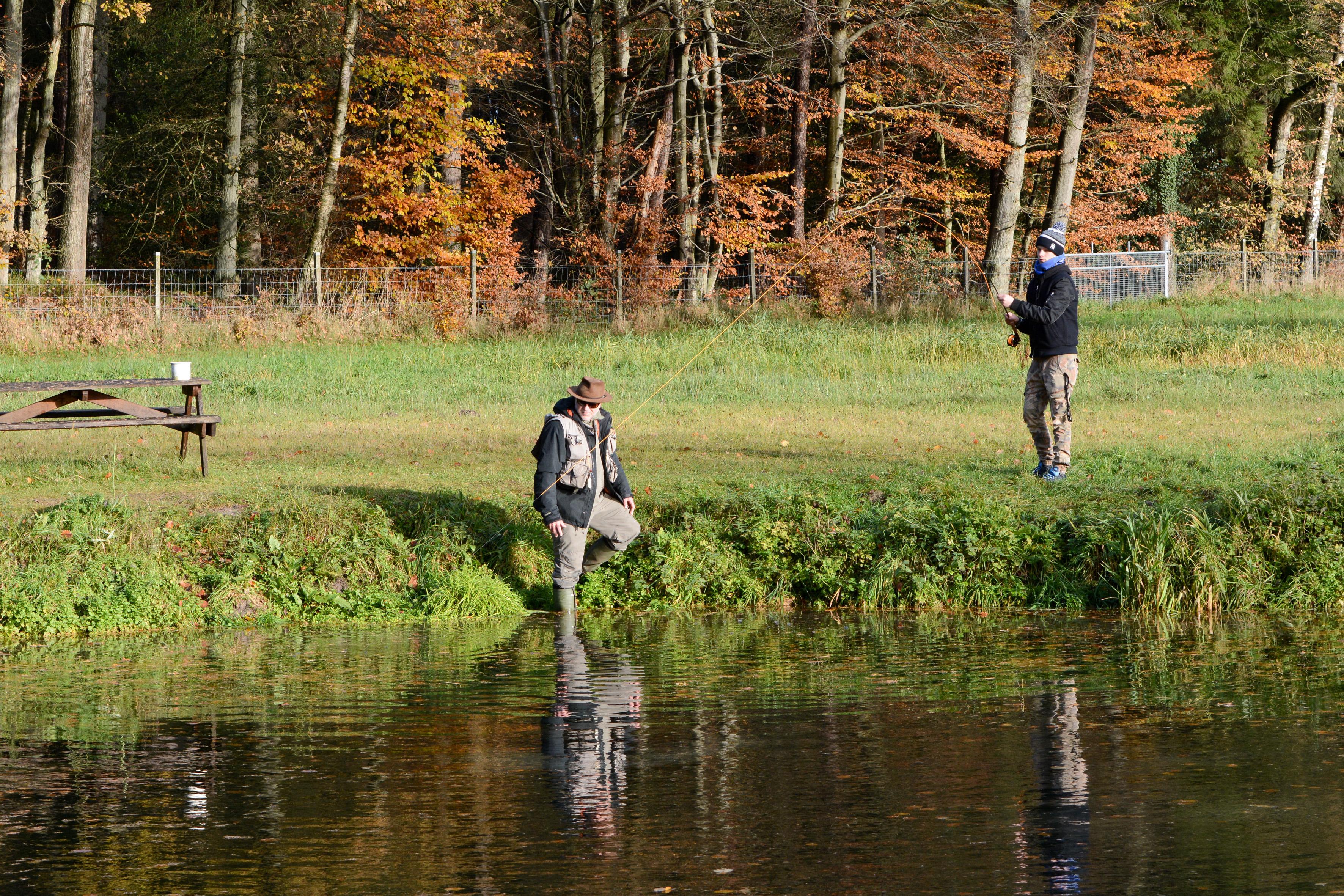 Fliegenfischen mit Jugendgruppe und Achim Stahl